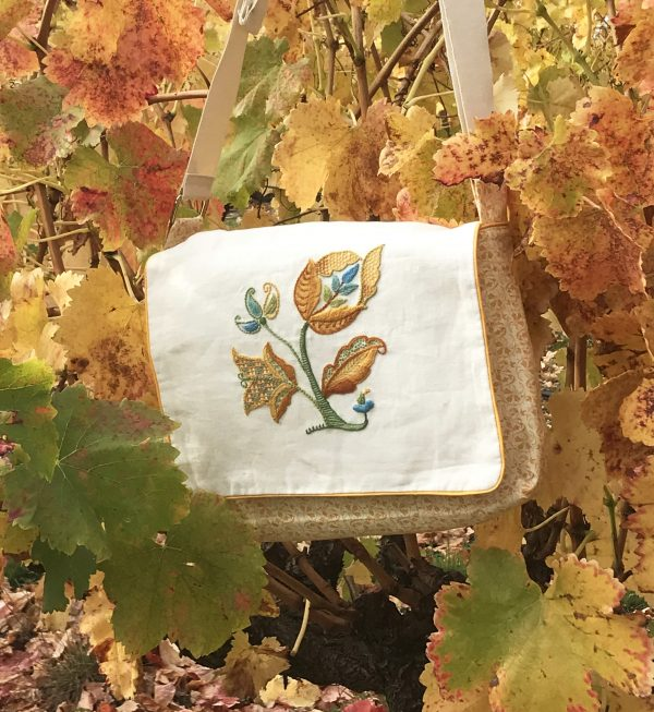 Autumn Gold crewel embroidery kit by Anna Scott