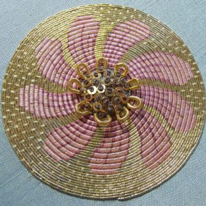 'Dainty Pink Daisy' Goldwork Or Nué Kit