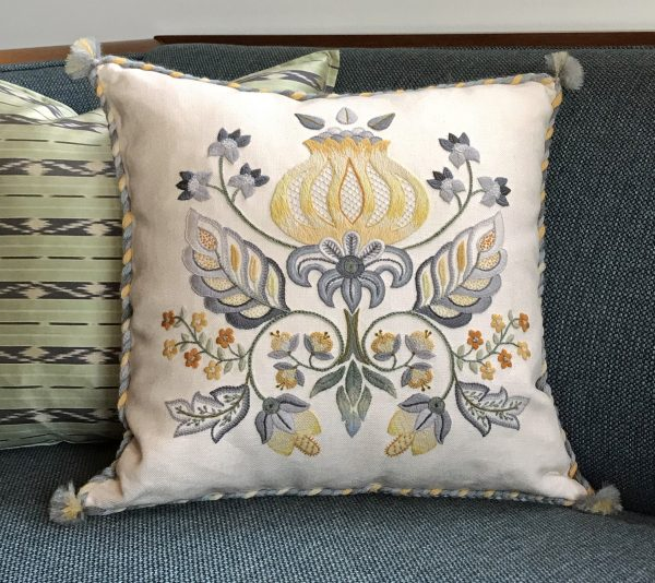 REFLECTIONS embroidered pillow
