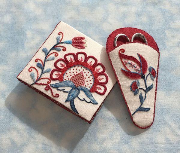 Flowers for Ellaine Needle book & Scissor case