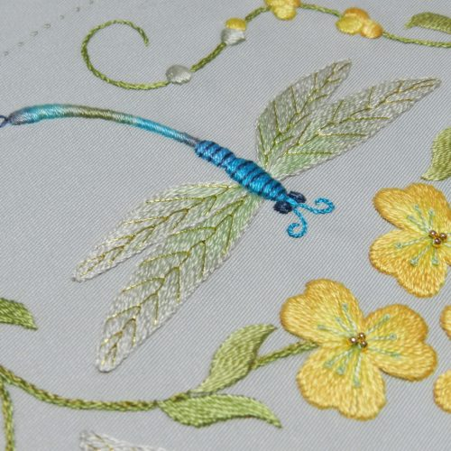 'Over the Pond' Silk embroidery kit by Anna Scott